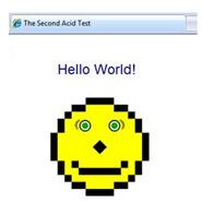 Internet Explorer 8, Acid2 testinden geçti