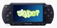 Yakında PSP'de  Skype mi olacak?