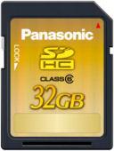 Panasonic: 32 GB kapasiteli SDHC kart