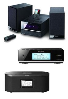 Sony'den iPod uyumlu müzik seti ve radyolar