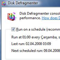 Dolu disk ve disk birleştirme (defrag) yapmamak