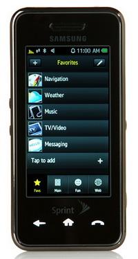 Samsung Instinct: iPhone klonu