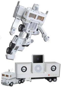 iPod için Transformers hoparlörleri