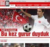 Bild'den Türkler'e Euro 2008 sürprizi