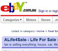 eBay'de satılmayan sadece hayatımız kalmıştı