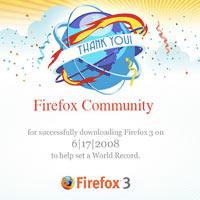 Rekor onaylandı: Guiness'te Firefox 3 de var