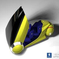 360 derece dönebilen bir Peugeot