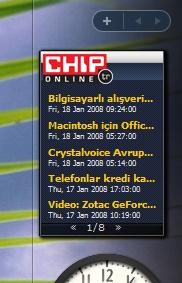CHIP Online'ın Vista gadget'ı sınır tanımıyor