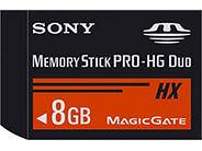 Aşırı hızlı: Sony Memory Stick PRO-HG Duo HX