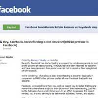Facebook'ta emzirme protestosu!