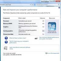 Windows 7, PC'yi nasıl puanlayacak?