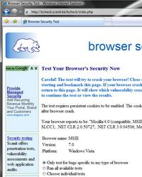 Web tarayıcısı: Çökme testine sokmak