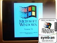 Microsoft Windows 3.1, N95'te çalışıyor
