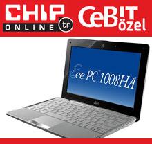 Eee PC 1008HA: Asus'tan yeni netbook tasarımı