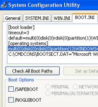 """""""boot.ini"""" ile Windows'un başlangıç ayarları"""
