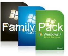 Yeni fiyatlarıyla Win 7 Aile Paketi...