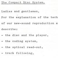 Compact Disc'in 1979'da basına sızan ilk detayları