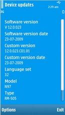 Nokia N97: Firmware güncellemesi mi geliyor?