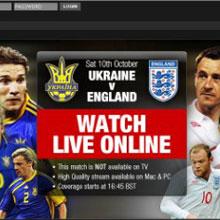 İngiltere maçı kesin olarak sadece internette!