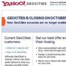 Geocities artık yok!