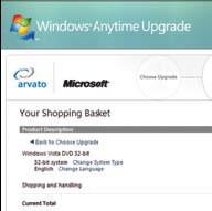 4.00 Euro'ya tam teşekküllü Windows Vista