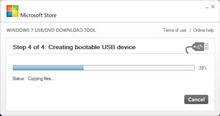 MS: Win 7'yi USB bellekten kurabilirsiniz