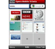 Win Mobile için Opera Mobile 10 Beta hazır