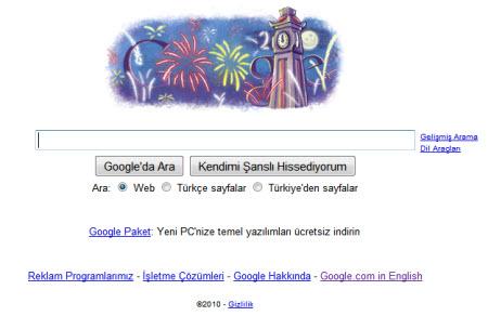Google'ın Türkiye logosu