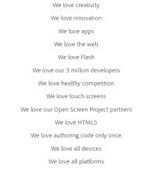 İşte Adobe'un sevdikleri