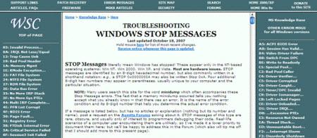 Windows donma mesajları ve destek