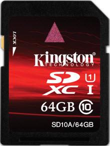 Kingston'dan yeni SDXC bellek kartı