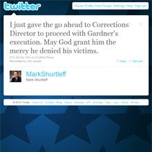 Twitter'da canlı infaz haberi