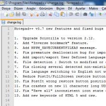 Ücretsiz metin editörü: Notepad ++
