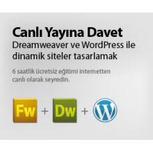 Dreamweaver ve WordPress ile dinamik siteler