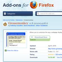 Greasemonkey ile Firefox'a güç katın!
