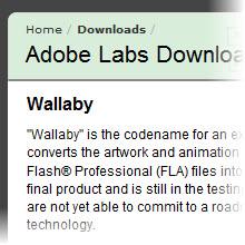 Wallaby ile Flash'ı HTML5'e dönüştürecek