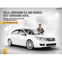 Renault Latitude ile dünyada bir ilk Türkiye'de