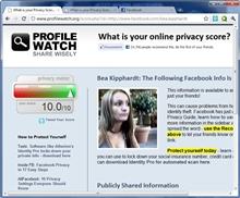 ProfileWatch: Facebook'ta daha fazla kişisellik