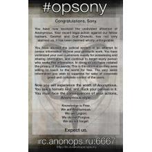 'Anonim' Sony sunucularını hedef aldı!