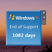 Windows XP ölüm sayacı, Windows XP'de çalışmıyor!