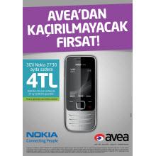 Avea'dan ayda 4TL'ye 3G'li Nokia!