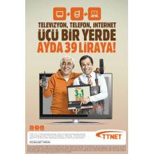 TTNet'ten yeni üçü bir yerde paketi!
