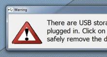 USB Alert ile USB bellek unutmaya son!