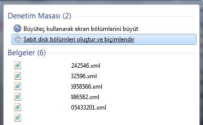 Windows Disk Yönetimi
