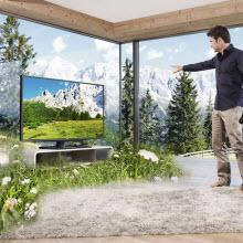 Toshiba'dan dev ekranlı gözlüksüz 3D TV!