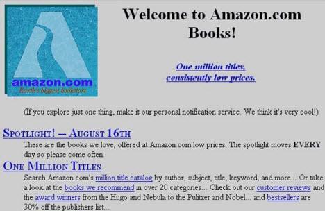 Amazon.com'un eski ve yeni hali