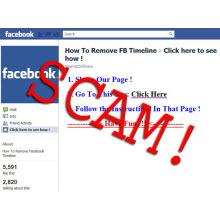 """Facebook'ta """"Zaman tünelini kaldır"""" sahtekarlığı"""
