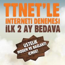 TTNet'ten 2 ay sınırsız, bedava deneme fırsatı!