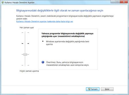 Kullanıcı Hesabı Denetimi (UAC)