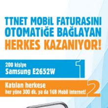 TTNet Mobil'den hediye şansı!